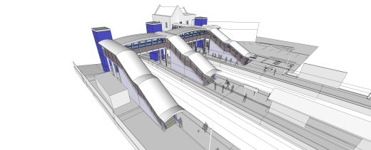 Crossrail/Network Rai: Harold Wood Station architects impressionl