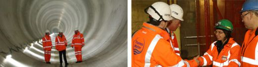 Vinci Construction: Royal Visit at Lee Tunnel Site in London