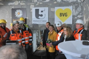 Breakthrough! Implenia closes the gap between the U55 and the existing U5 line in Berlin. (Picture: Antonio Reetz-Graudenz)