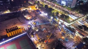 Bauer Indonesia is executing the foundation works for a new 59-story high-rise in Jakarta. © Bauer Group