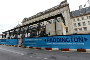 Paddington station - canopy steel framework under construction. Photo: Crossrail/Terry Mahoney
