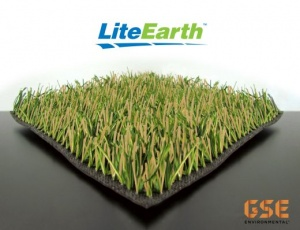Patented innovative synthetic grass capping system GSE LiteEarth