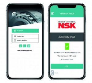 NSK has joined forces with the WBA to create a multi-manufacturer anti-counterfeiting app