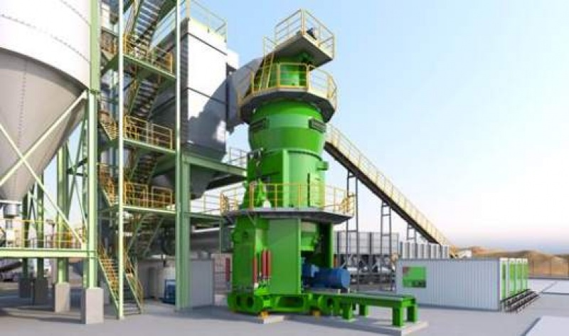 Cement Plant Grinding : Loesche ccg grinding plant with modern vertical roller