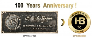 100 years of innovative, reliable and customized technology from Halbach & Braun!