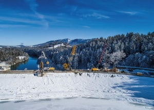 Reopening for the Forggensee Reservoir Dam in Germany (Photo: Bauer Group)