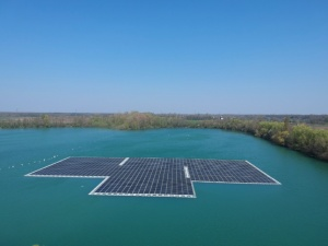 Maiwald plant – 750 kWp On an operating quarry lake