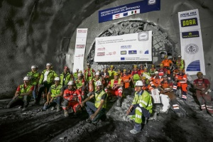 In July 2020, a Herrenknecht Gripper TBM had completed a 16.63 kilometer long section of the exploratory tunnel on the Austrian north side of the Brenner Base Tunnel. (Photo: BBT SE/STRABAG/Jan Hetfleisch)